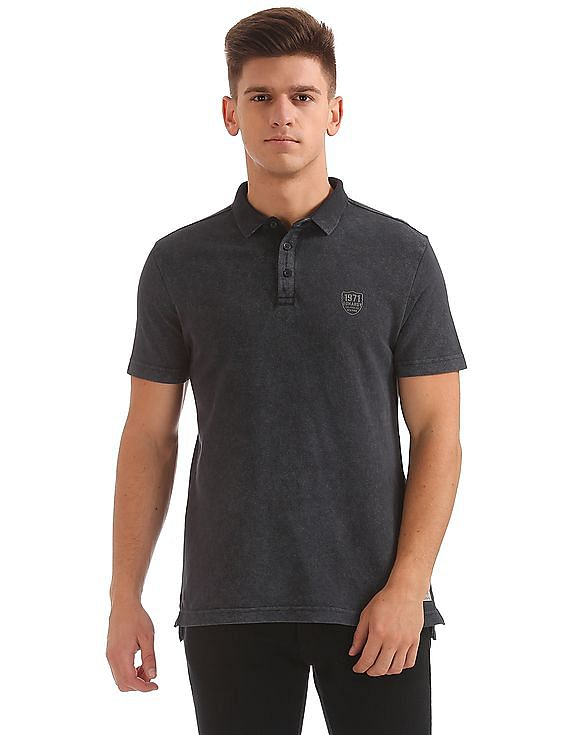e9006fba12 Buy Men Slim Fit Pique Polo Shirt online at NNNOW.com