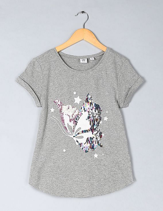 4becfe03 Buy Girls Girls Flippy Sequin Graphic T-Shirt online at NNNOW.com