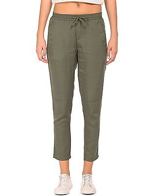 Cherokee Elasticized Drawstring Waist Solid Pants