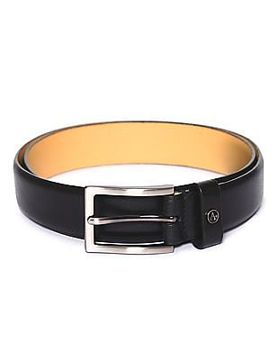 Arrow Textured Leather Belt