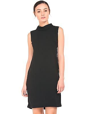 Arrow Woman Foldover Collar Shift Dress