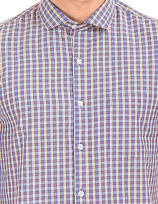 Excalibur Cutaway Collar Check Shirt