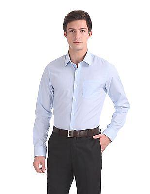 Arrow French Placket Vertical Stripe Shirt