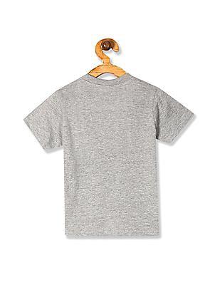 Cherokee Grey Boys Graphic Print Crew Neck T-Shirt