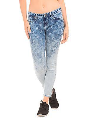EdHardy Women Skull Print Skinny Jeans