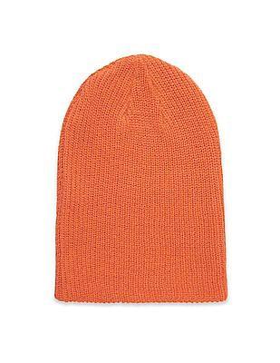 Aeropostale Solid Rib Knit Beanie