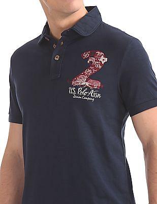 U.S. Polo Assn. Denim Co. Muscle Fit Slubbed Polo Shirt