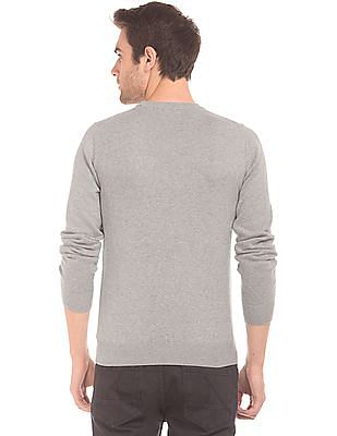 Gant Brand Applique Crew Neck Sweater