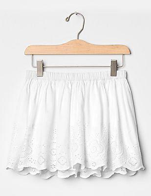 GAP Girls White Eyelet Skirt