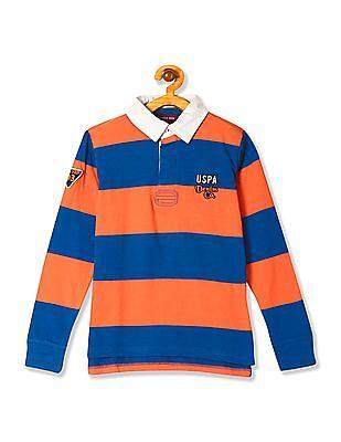 U.S. Polo Assn. Kids Boys Standard Fit Striped Polo Shirt