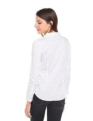 U.S. Polo Assn. Women Regular Fit Printed Shirt