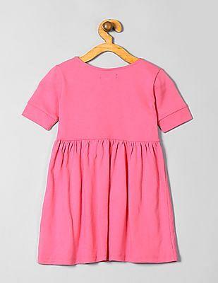 GAP Girls Pink Shirred Babydoll Dress