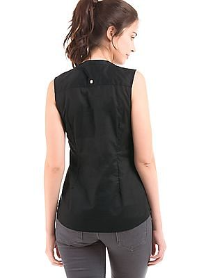 U.S. Polo Assn. Women Regular Fit Ruffle Trim Shirt