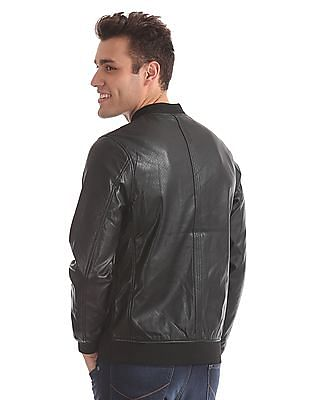 Arrow Sports Regular Fit Perforated Bomber Jacket