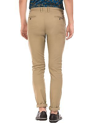 Arrow Sports Patterned Slim Fit Trousers