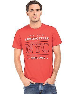 Aeropostale Embroidered Regular Fit T-Shirt