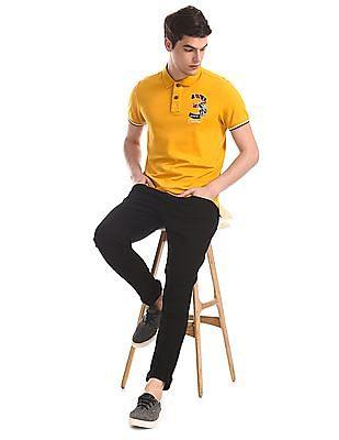U.S. Polo Assn. Denim Co. Black Brandon Slim Tapered Fit Rinsed Jeans