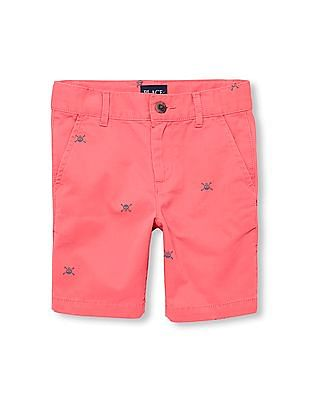 The Children's Place Boys Skull Printed Woven Shorts