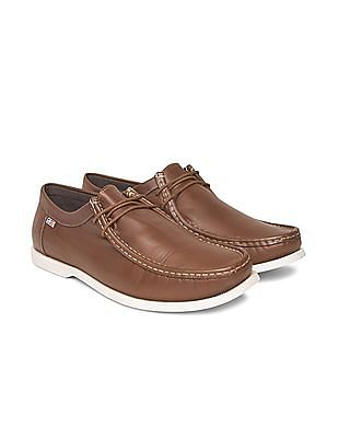 Arrow Sports Leather Slip On Shoes