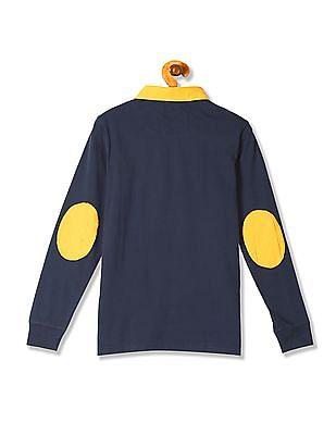 U.S. Polo Assn. Kids Boys Standard Fit Colourblocked Polo Shirt
