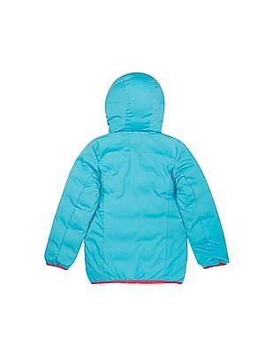 U.S. Polo Assn. Kids Girls Reversible Hooded Jacket