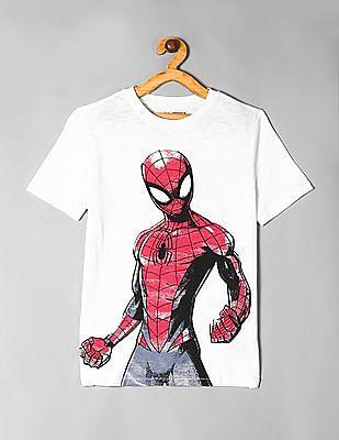 GAP White Boys Marvel Print T-Shirt