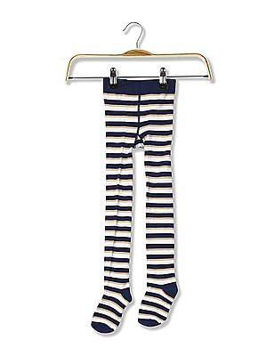 U.S. Polo Assn. Kids Girls Striped Stockings
