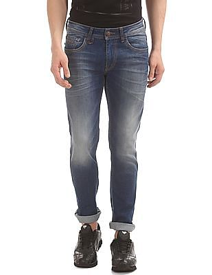 Flying Machine Whiskered Tapered Fit Jeans