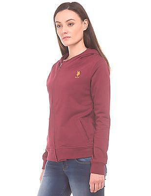 U.S. Polo Assn. Women Hooded French Terry Sweatshirt