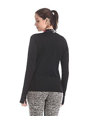 SUGR Black Printed Neck Active Sweatshirt