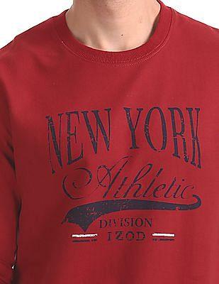 Izod Printed Crew Neck Sweatshirt