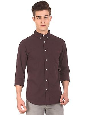 Aeropostale Button Down Collar Brushed Cotton Shirt