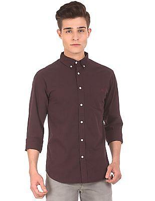 Aeropostale Button Down Collar Brushed Cotton Shirt