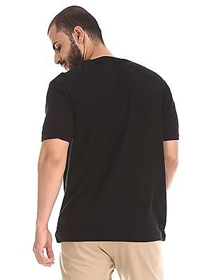 Cherokee Black Slim Fit Henley T-Shirt