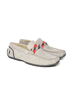 U.S. Polo Assn. Braided Trim Leather Loafers
