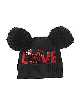 GAP Girls Disney Mickey Mouse Pom-Pom Hat