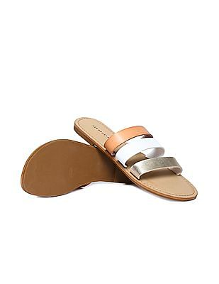Aeropostale Triple Strap Slip On Sandals