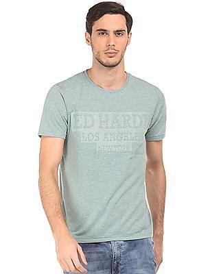 Ed Hardy Heathered Crew Neck T-Shirt