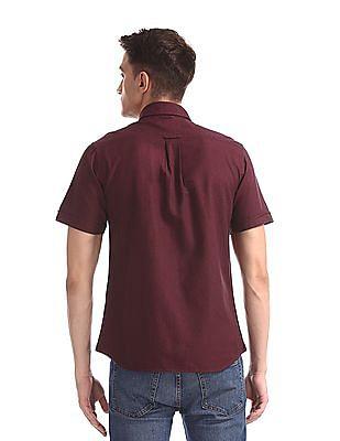 U.S. Polo Assn. Purple Patch Pocket Patterned Shirt