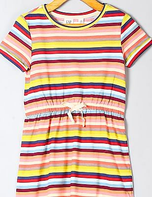 GAP Girls Multi Colour Stripe Knit Dress