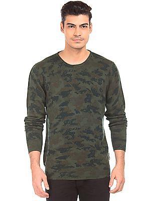 Ed Hardy Printed Slim Fit Sweater