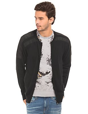 Ed Hardy Full Zip Overlay Sweater