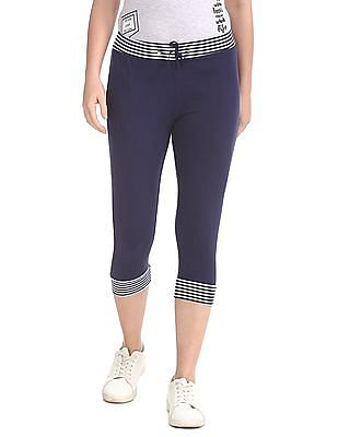 SUGR Drawstring Waist Cropped Joggers