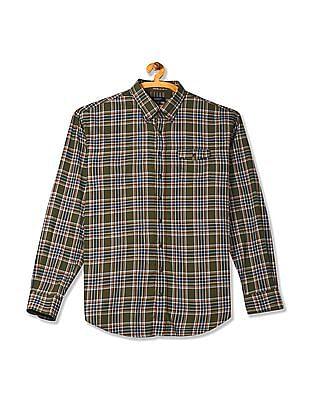 Gant Rockaway Twill Check Long Sleeve Button Down Shirt