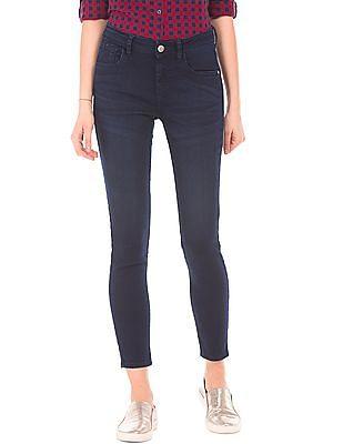 Flying Machine Women Super Skinny Dark Wash Jeans