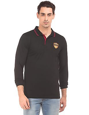Ruggers Solid Long Sleeve Polo Shirt