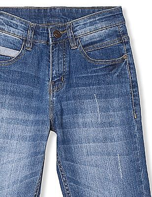 Cherokee Blue Boys Distressed Slim Fit Jeans