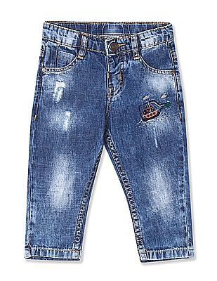 Donuts Boys Stone Wash Distressed Jeans