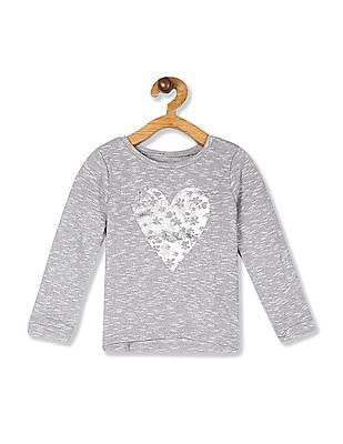 The Children's Place Toddler Girl Active Long Sleeve Foil Graphic Sweater-Knit Top