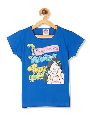 Day 2 Day Girls Short Sleeve Veronica Graphic T-Shirt